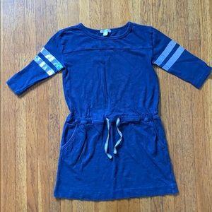 Crewcuts | Navy Mini Dress w/ Shine Detail